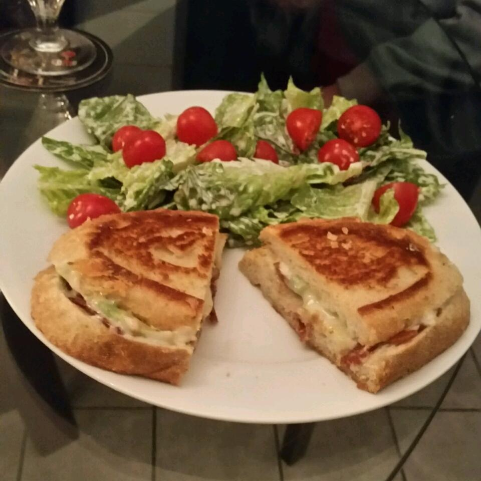 Bacon, Avocado, and Pepperjack Grilled Cheese Sandwich Jenny Fed.