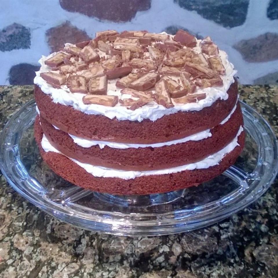 Chocolate Candy Bar Cake MissGT