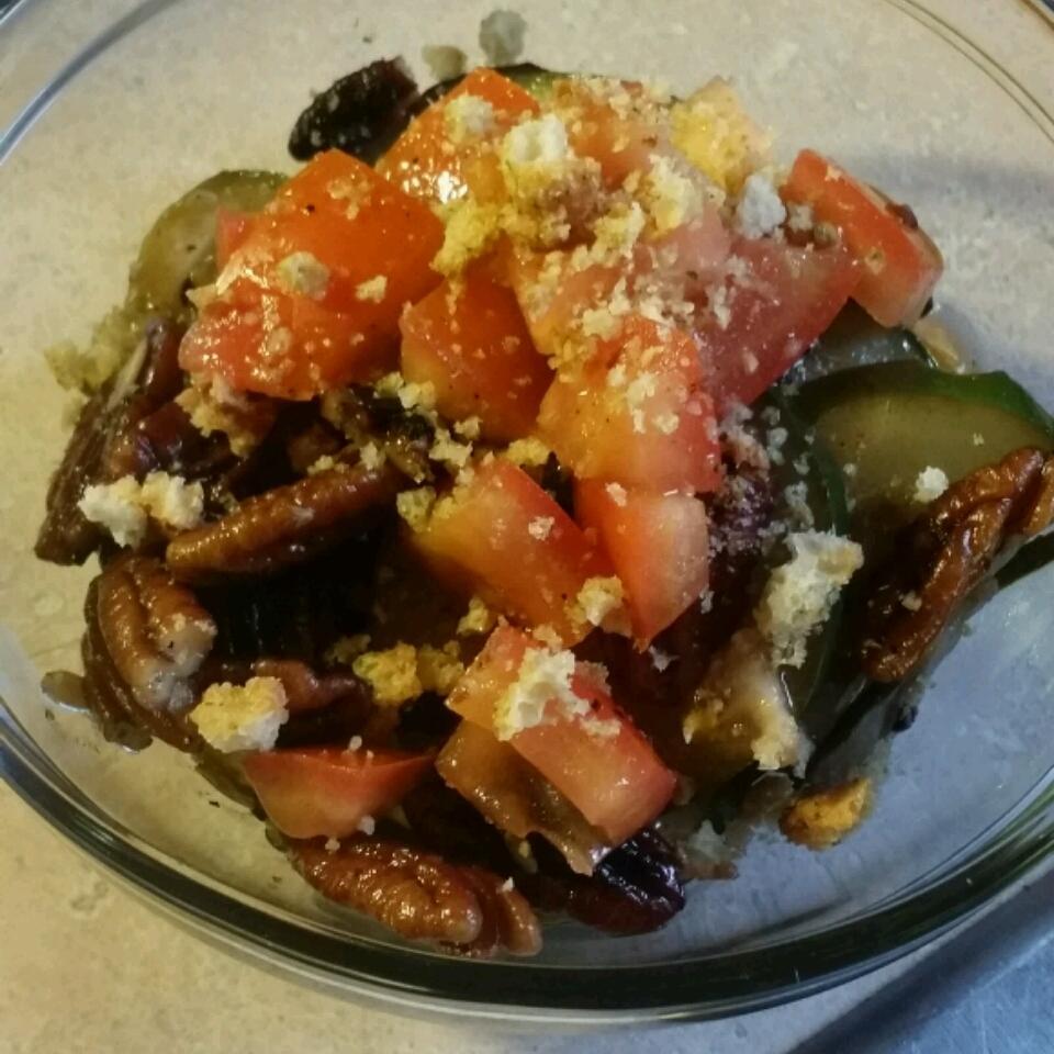 Zucchini and Pecan Saute Ruby Hervies
