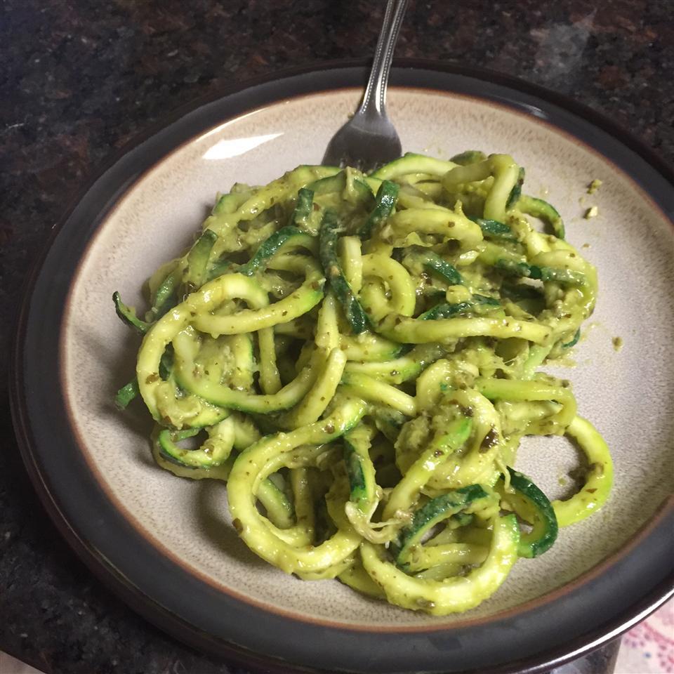 Avocado Pesto with Zucchini Pasta Sarah Beth