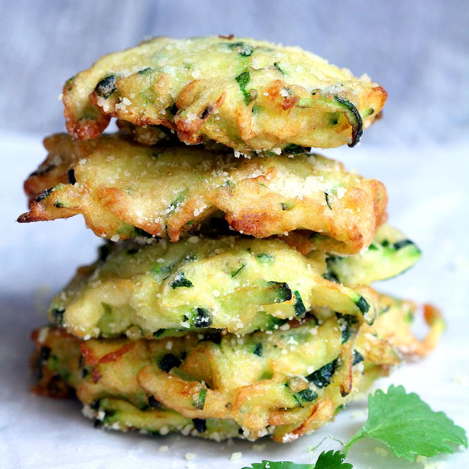 Zucchini-Parmesan Cheese Fritters