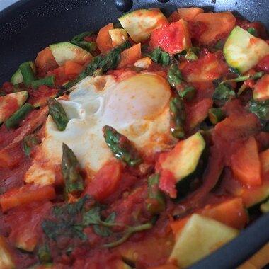 veggie poached eggs recipe
