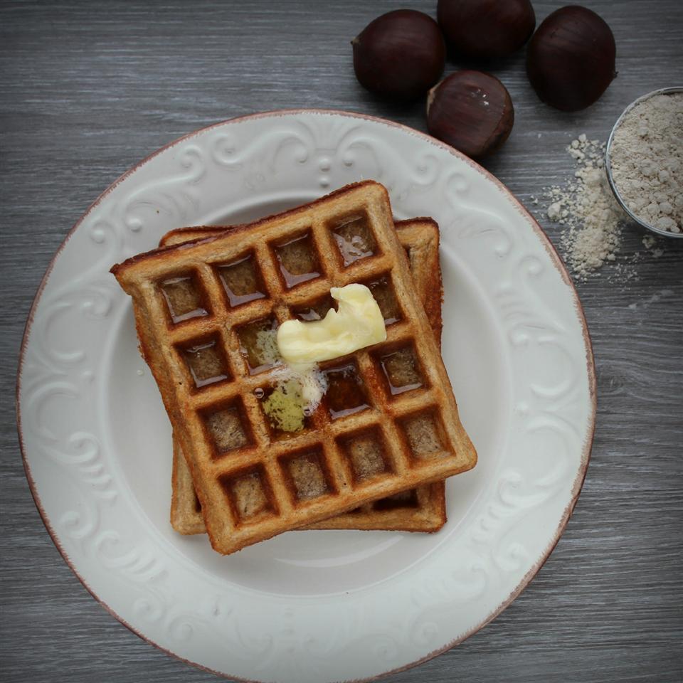 Chestnut Flour Waffles (Gluten Free)