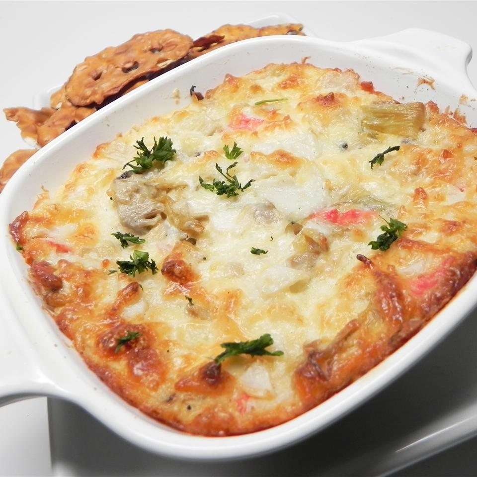 Warm Artichoke and Crab Dip
