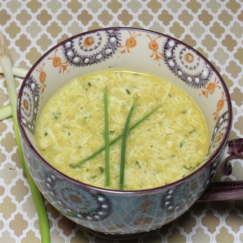 Curried Coconut Egg Drop Soup