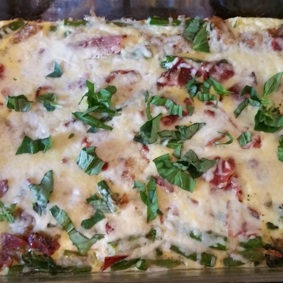 Asparagus, Potato, and Onion Frittata mike yawnick