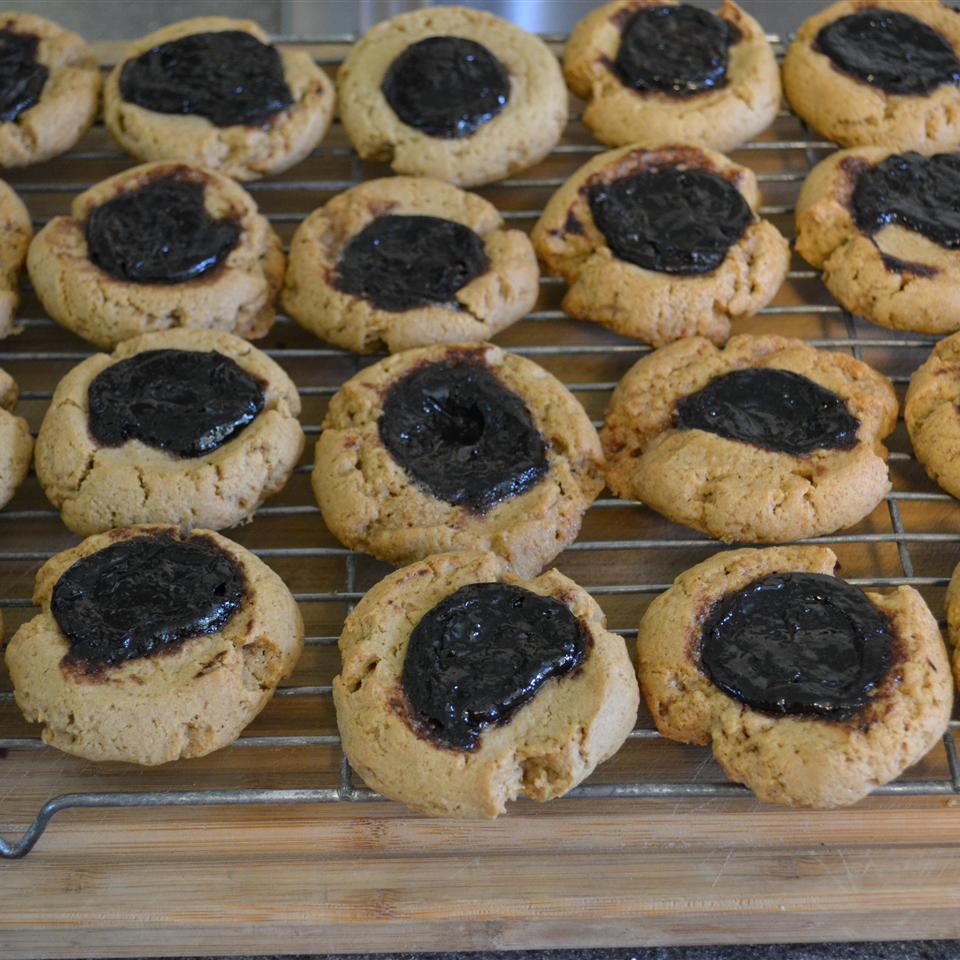 Peanut Butter and Jelly Thumbprint Cookies Grace Gutberlet