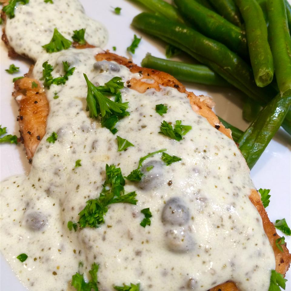 Grilled Salmon with Creamy Pesto Sauce Stacy