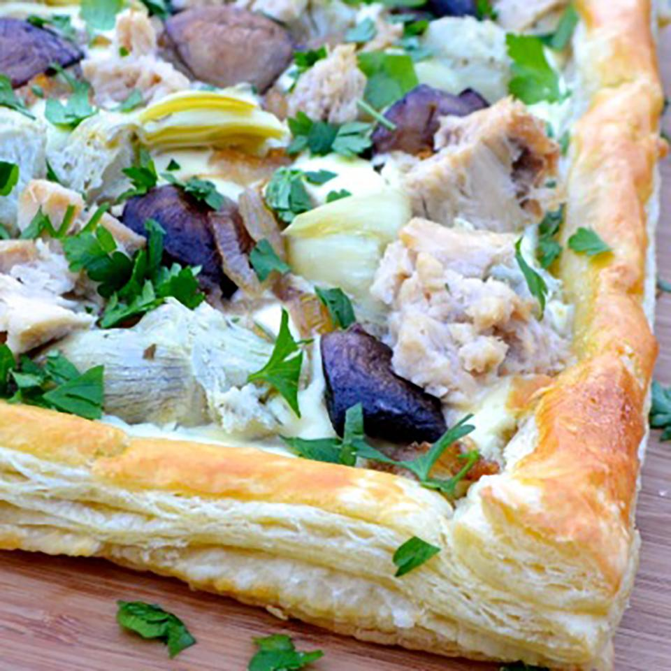 Tuna Tart with Mushrooms and Artichokes