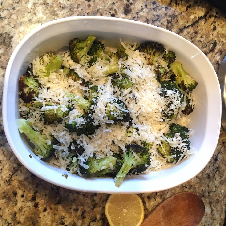 Garlic Roasted Broccoli with Parmesan Cheese Mom2Maddy&Lexi
