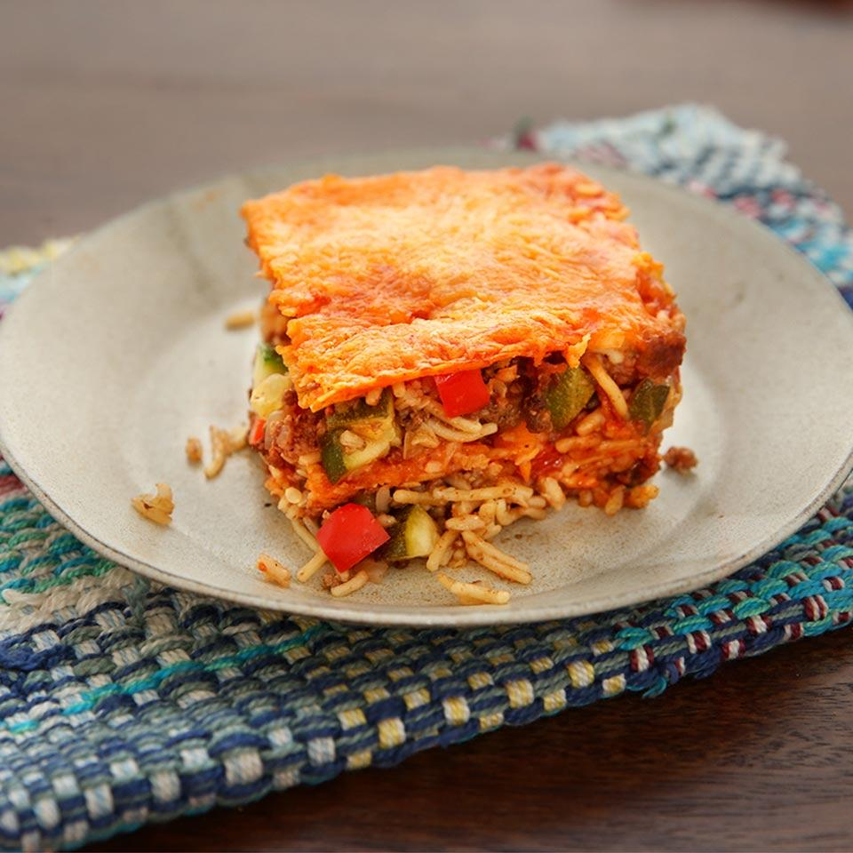 Beef and Cheese Enchilada Casserole