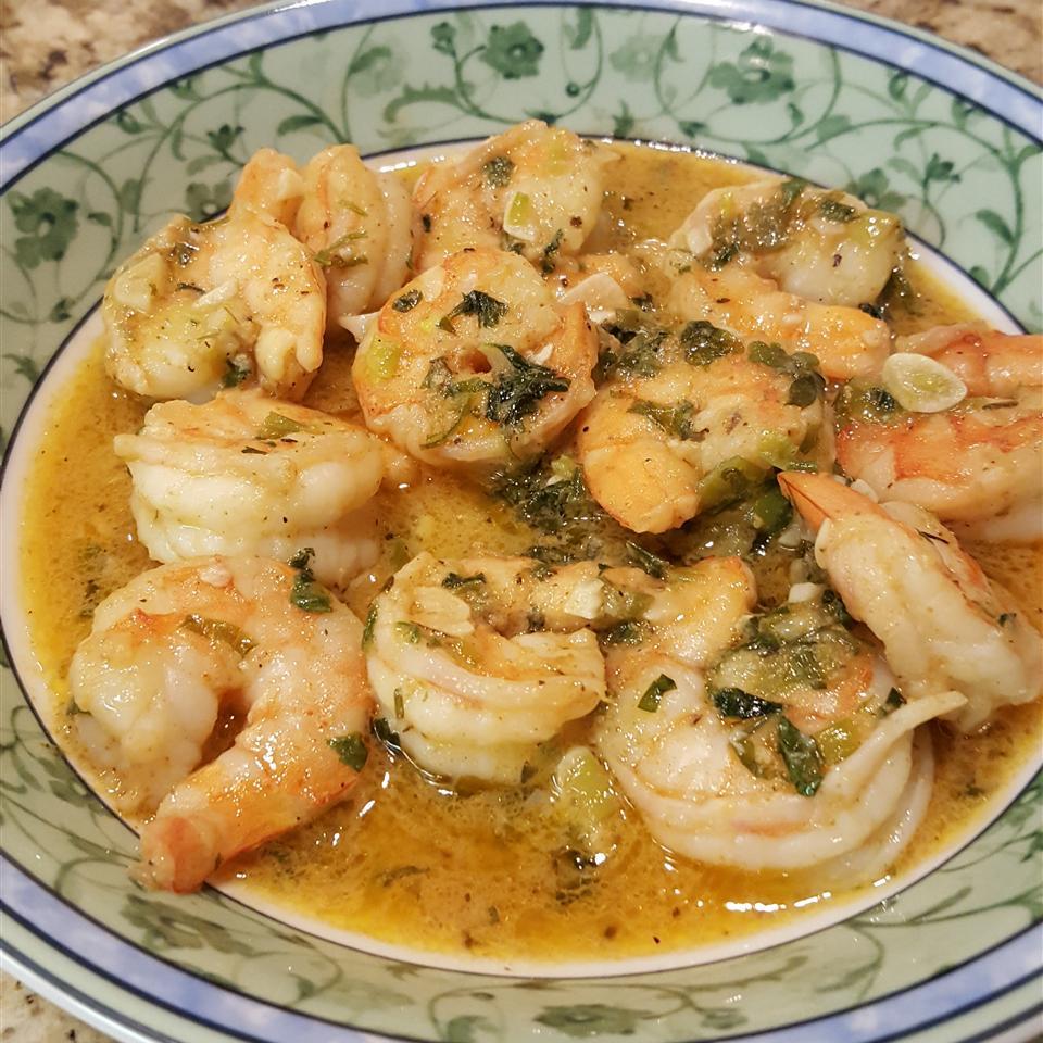 Sauteed Cajun Shrimp Verde
