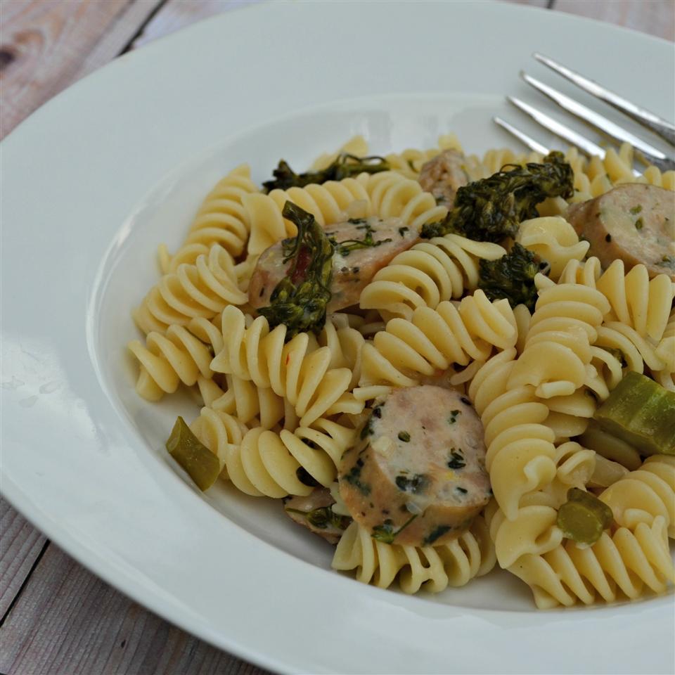 Lemon Broccolini and Sausage Pasta Rebekah
