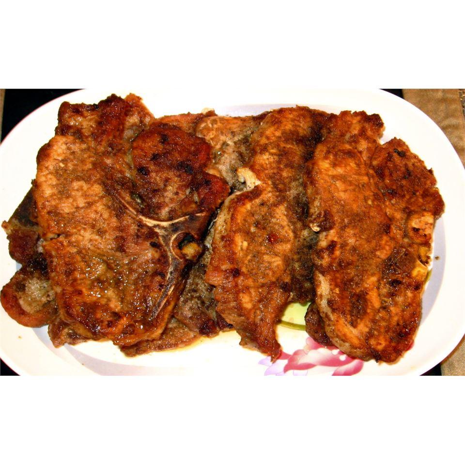 Coriander and Cumin Rubbed Pork Chops