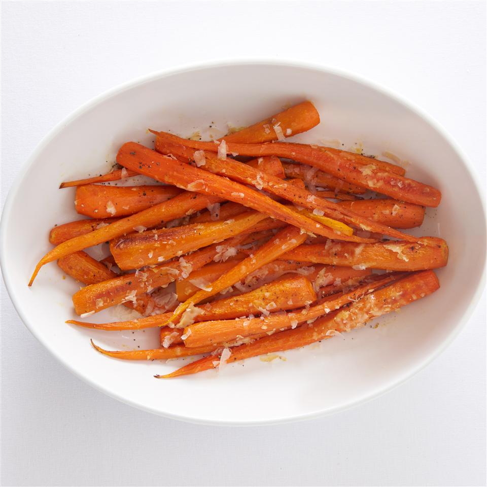 Roasted Parmesan-Garlic Carrots