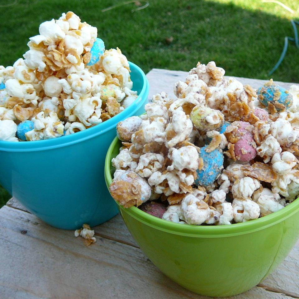 Malted White Chocolate Popcorn with Robin's Eggs
