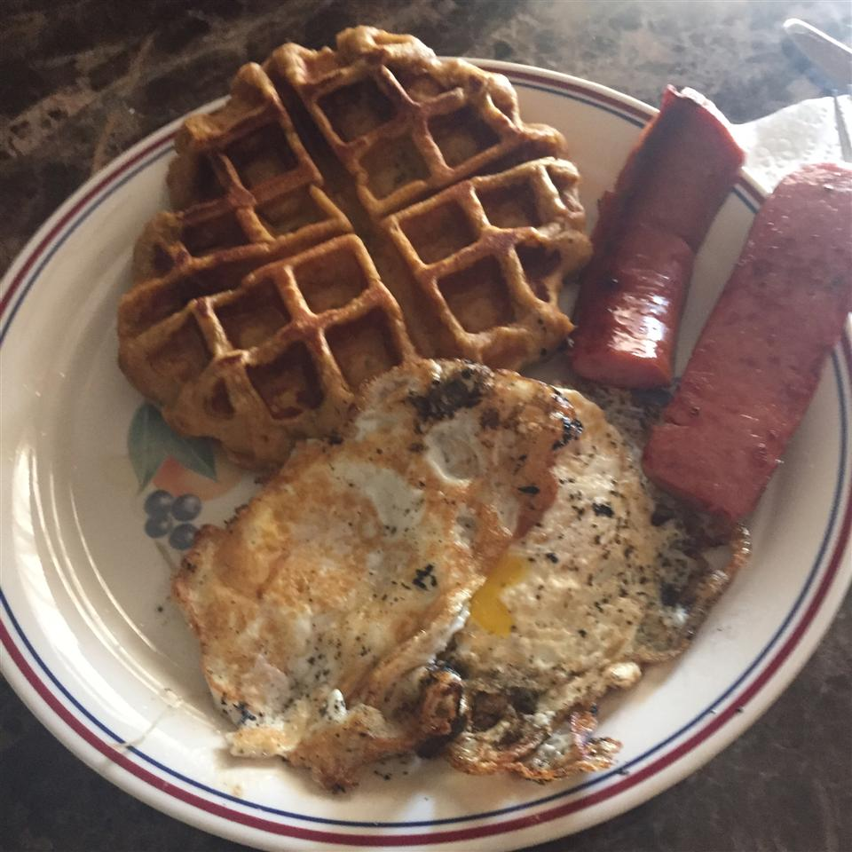 Sweet Potato Waffles with Cranberry Maple Syrup Goretty