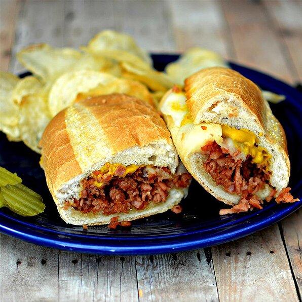 Hot pa-SPAMreg-mi Sandwich