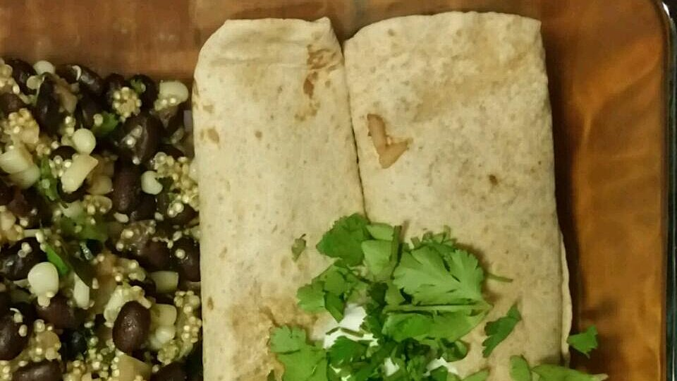 Red Beans and Rice Burrito