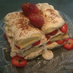 Strawberry Tiramisu for Two
