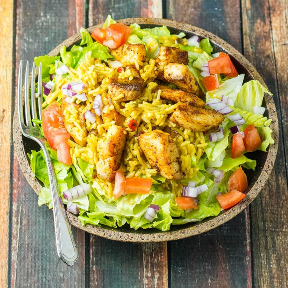 Mexican Rice and Tilapia Salad Knorr
