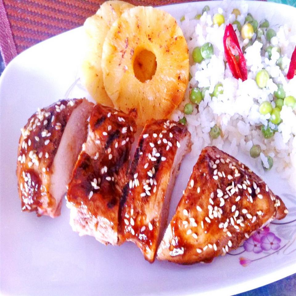 Grilled Chicken Breast and Pineapple
