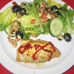 Feta and Sun-Dried Tomato Stuffed Chicken Linzertort