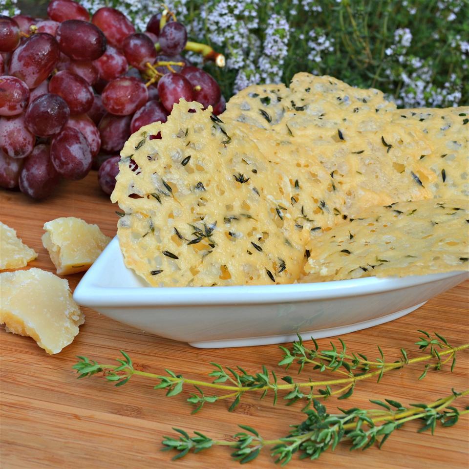 Parmesan Thyme Crisps