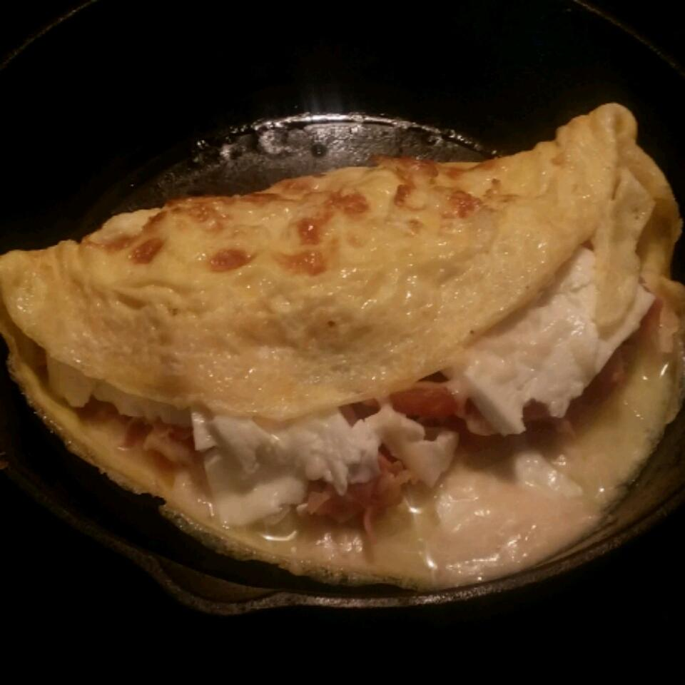 Prosciutto and Onion Omelette