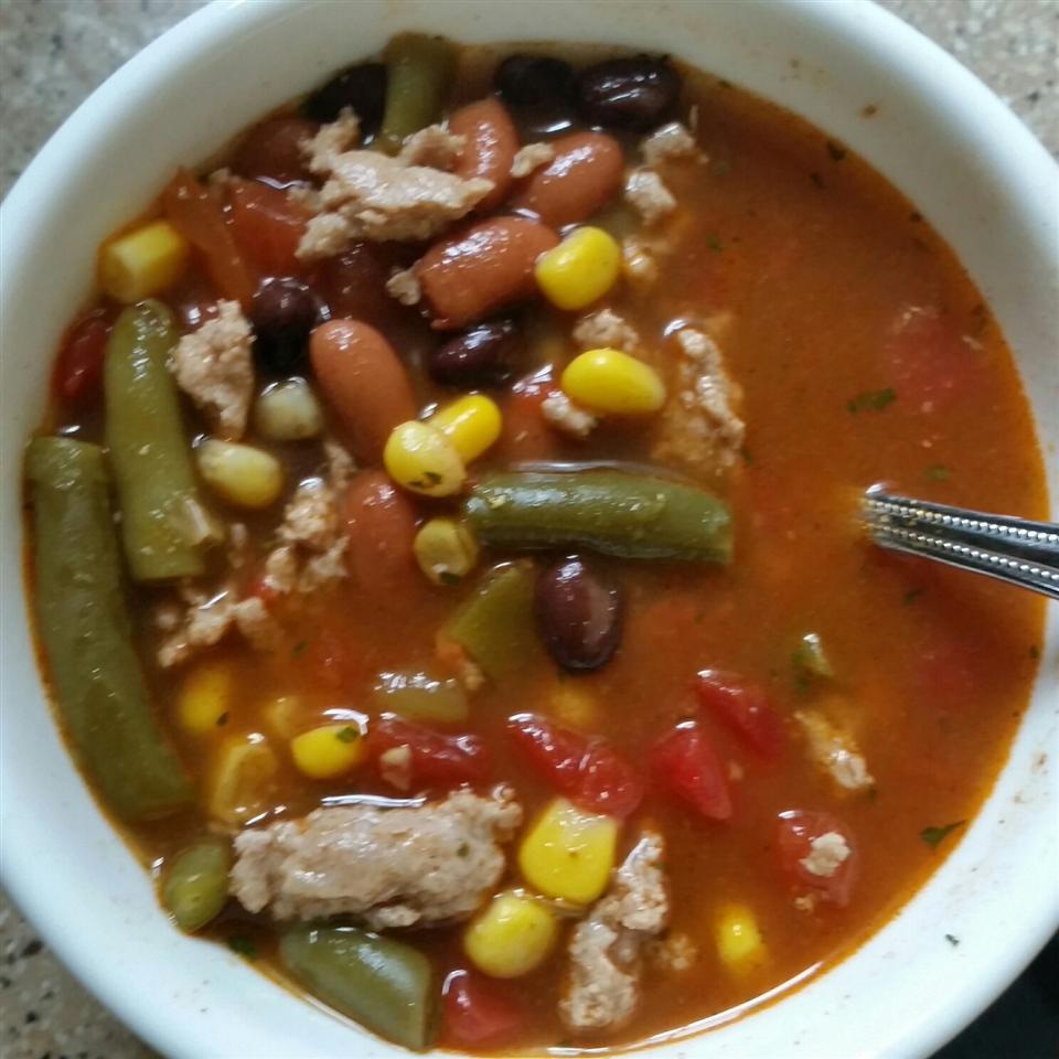Easy Turkey Taco Soup footballmomnva