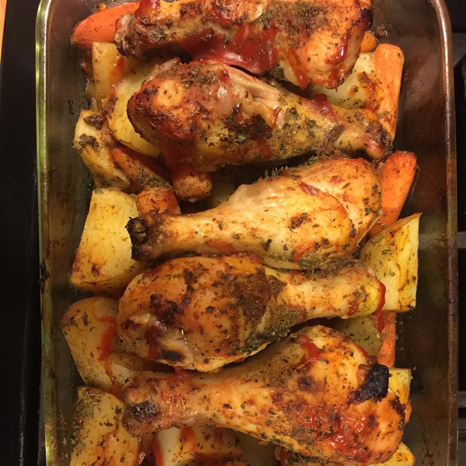 Clamato® Baked Chicken Legs