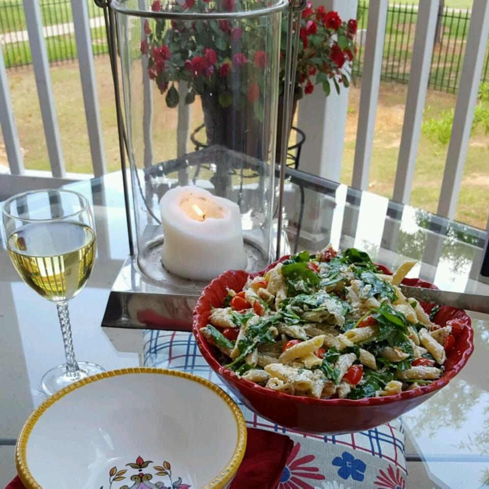 Goat Cheese and Arugula over Penne Wade Shelton