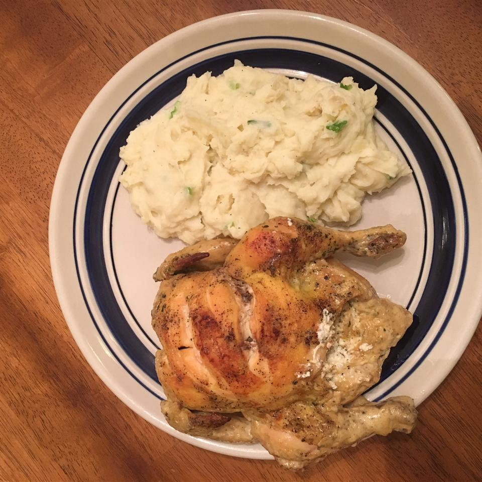 Cornish Hens with Garlic Cream Cheese Rican cook