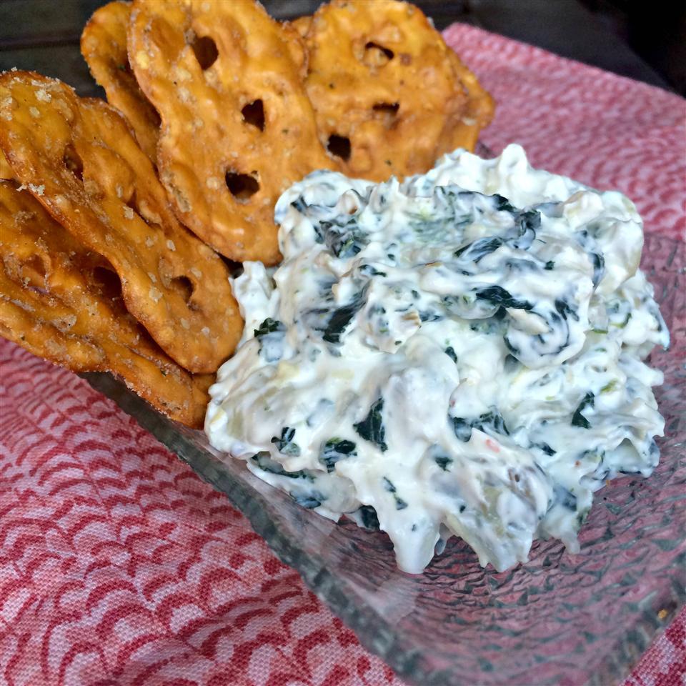 Spinach & Artichoke Dip from Pretzel Crisps® Staci