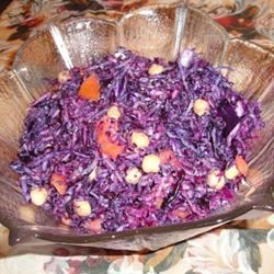 Red Cabbage and Chickpea Salad Lady at the Stove