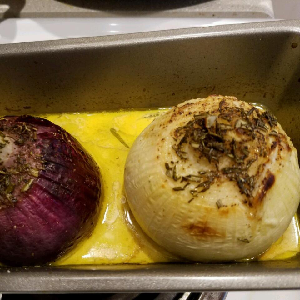 Onions Baked with Rosemary and Cream Amanda SusieQ