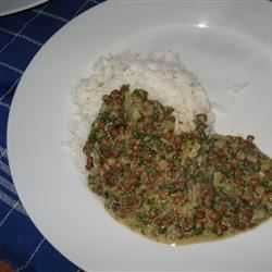 Indian Dahl with Spinach Krista