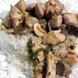Peanut Sesame Chicken with Mushrooms lestoby