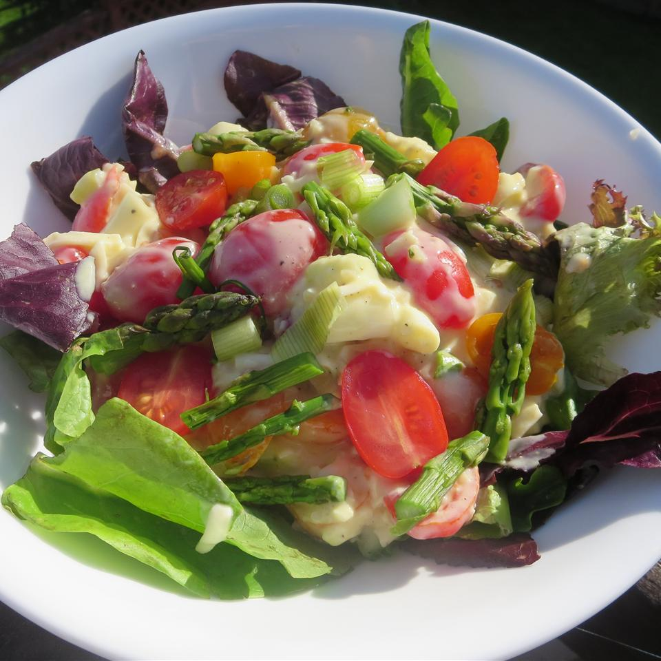 Asparagus and Tomato Salad with Yogurt-Cheese Dressing Phoebe