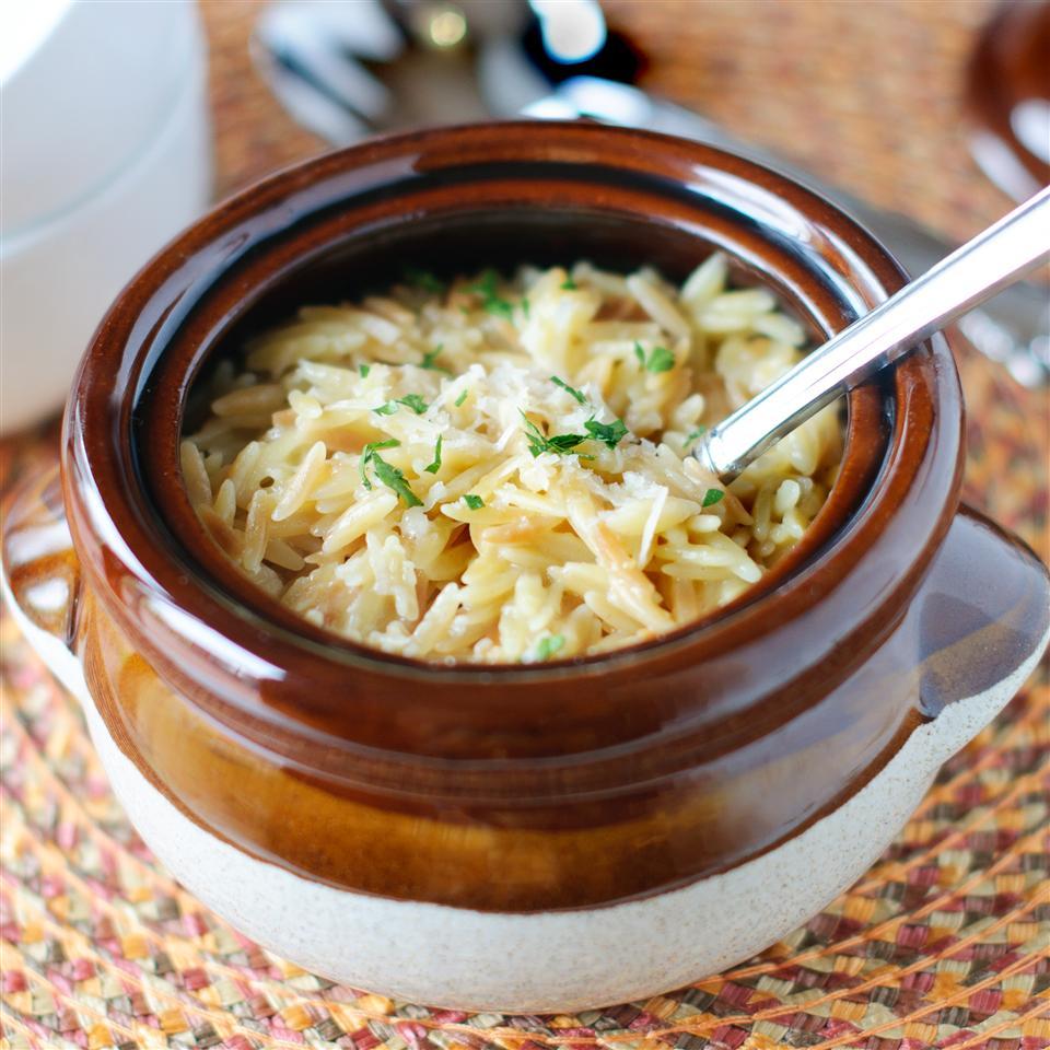 Parmesan Garlic Orzo