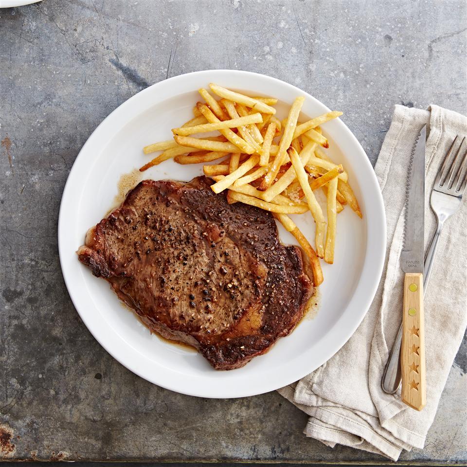 Salt and Pepper Ribeye Steak