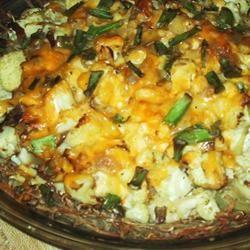 Cauliflower Cheese Pie sueb