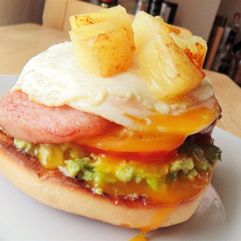 The Ultimate Open-faced Breakfast SPAM®WICH Sandwich Christina