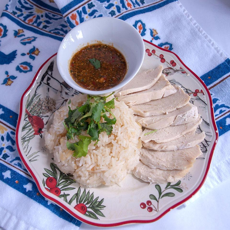 Khao Man Gai Thai Chicken and Rice (Healthy Version) CookingwithMomTomTom