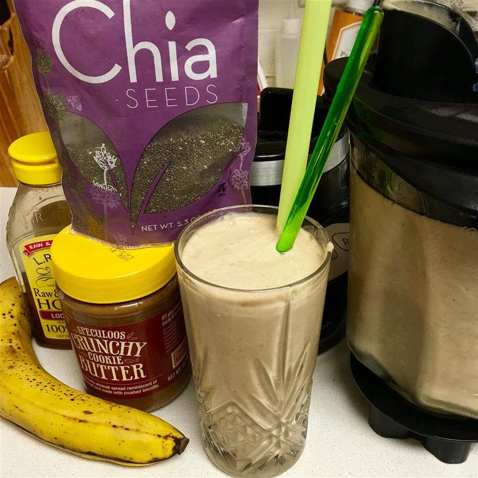 Peanut Butter and Banana Smoothie Andrea Kinman
