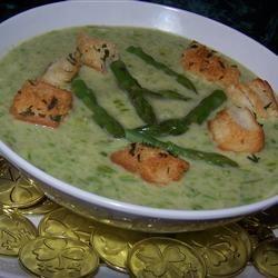 Cream of Fresh Asparagus Soup I Soup Loving Nicole