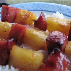 Ham and Pineapple Kabobs Karen