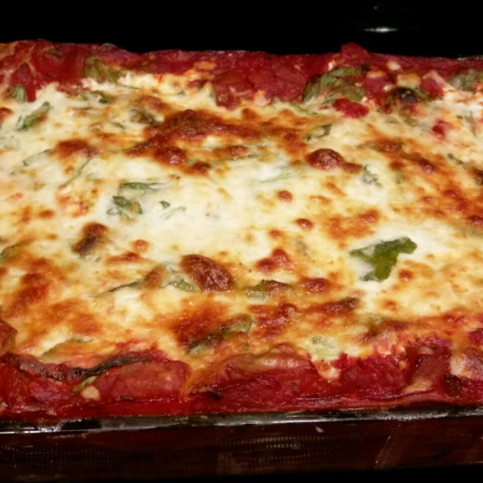 Low Fat Cheesy Spinach and Eggplant Lasagna freeshus