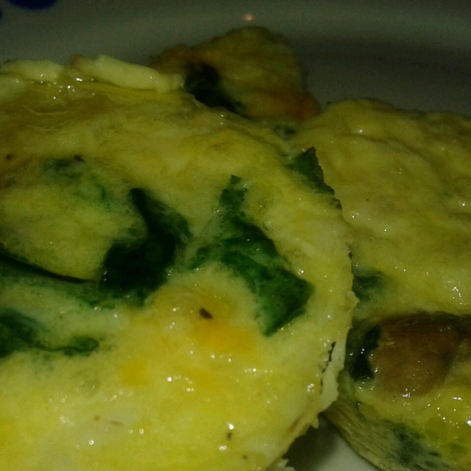 Mini Spinach and Crab Quiche