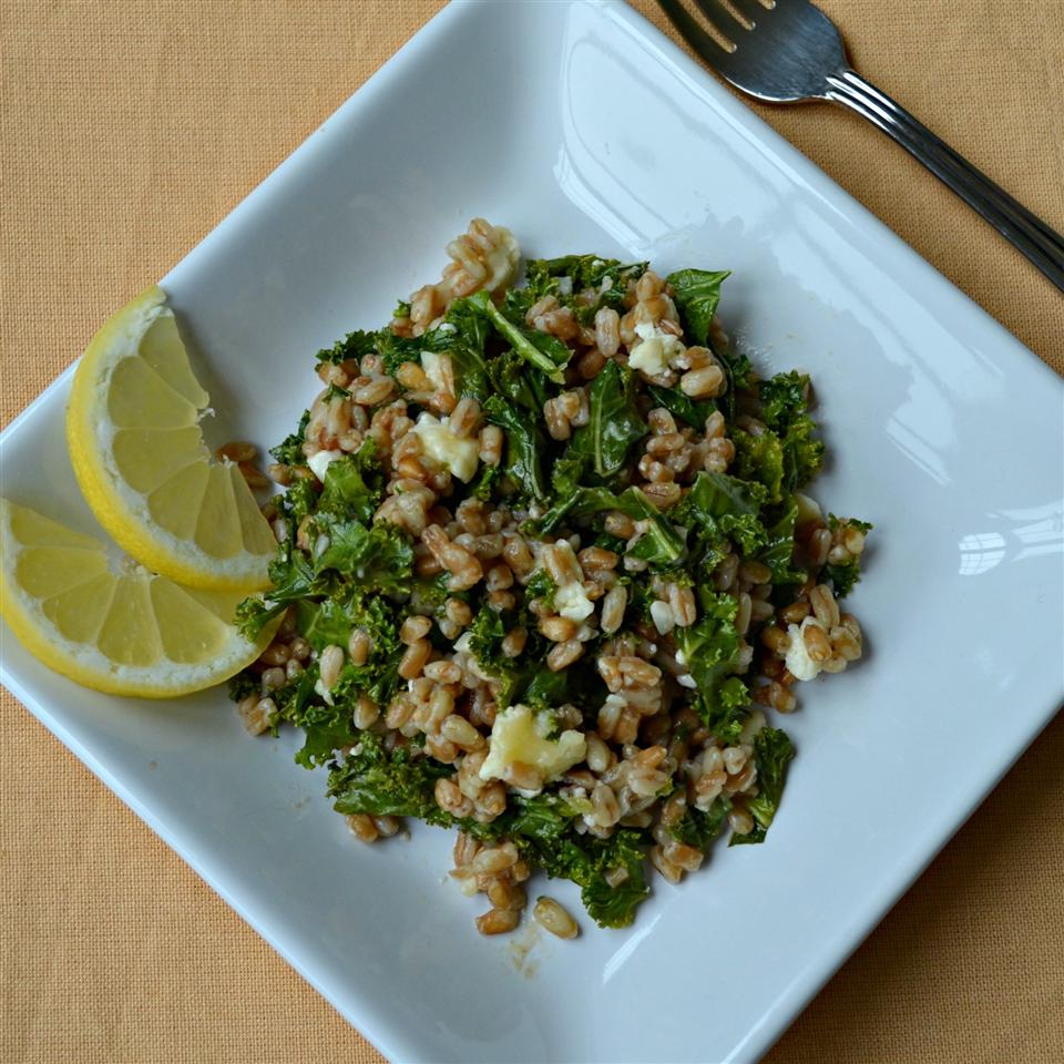 Healthy Warm Farro Salad